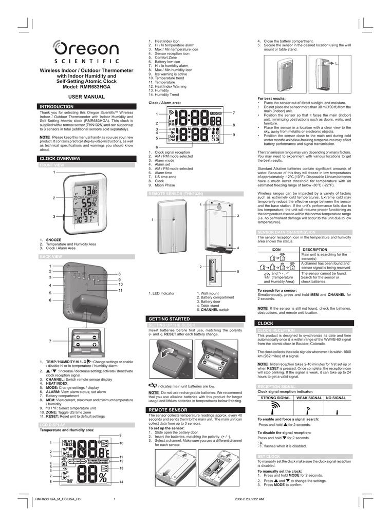 oregon scientific rmr683hga thermometer user manual manualzz com rh manualzz com