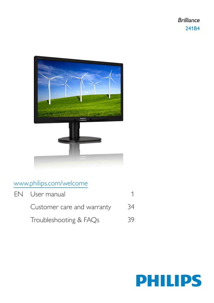 Philips 241B4 LCD Monitor 64 BIT Driver