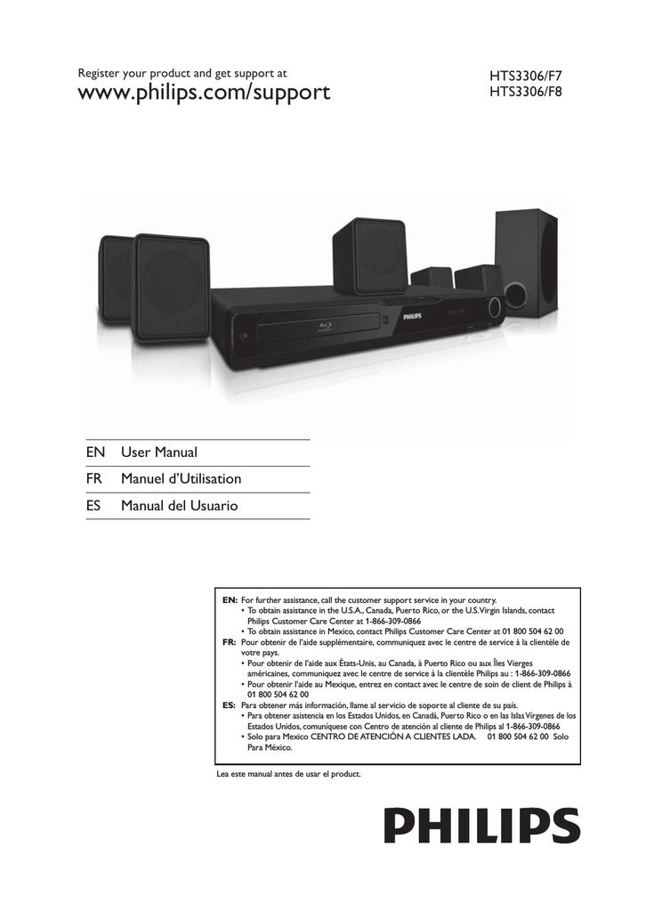 Philips HTS3306/F7 Blu-ray Player User Manual | manualzz com