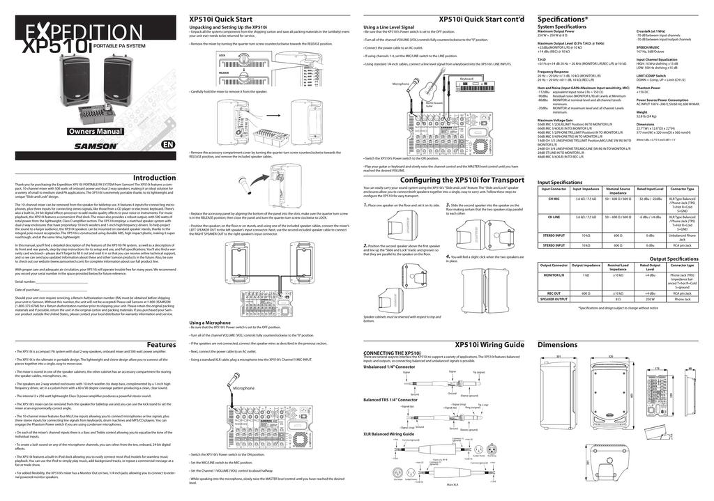 samson xp510i dj equipment user manual manualzz com rh manualzz com