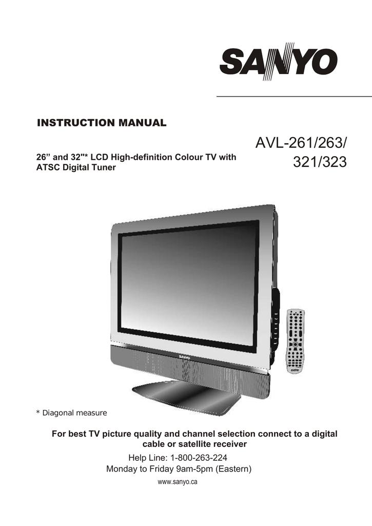 Sanyo Flat Screen Tv Manual Cupmixe