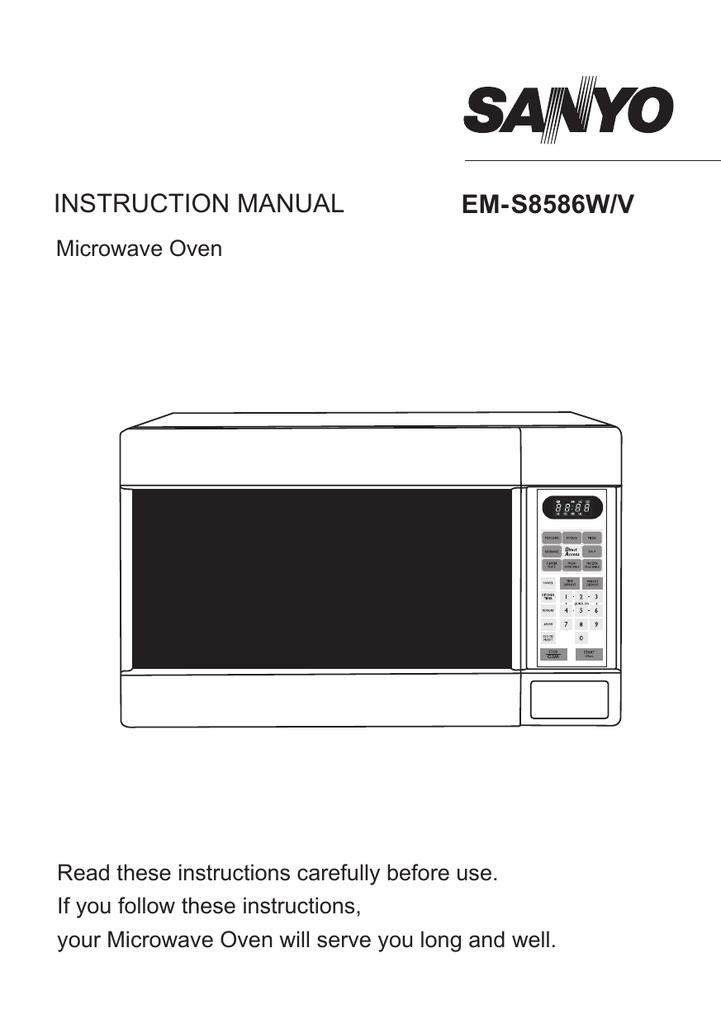 Sanyo Em S8586w S8586v User Manual