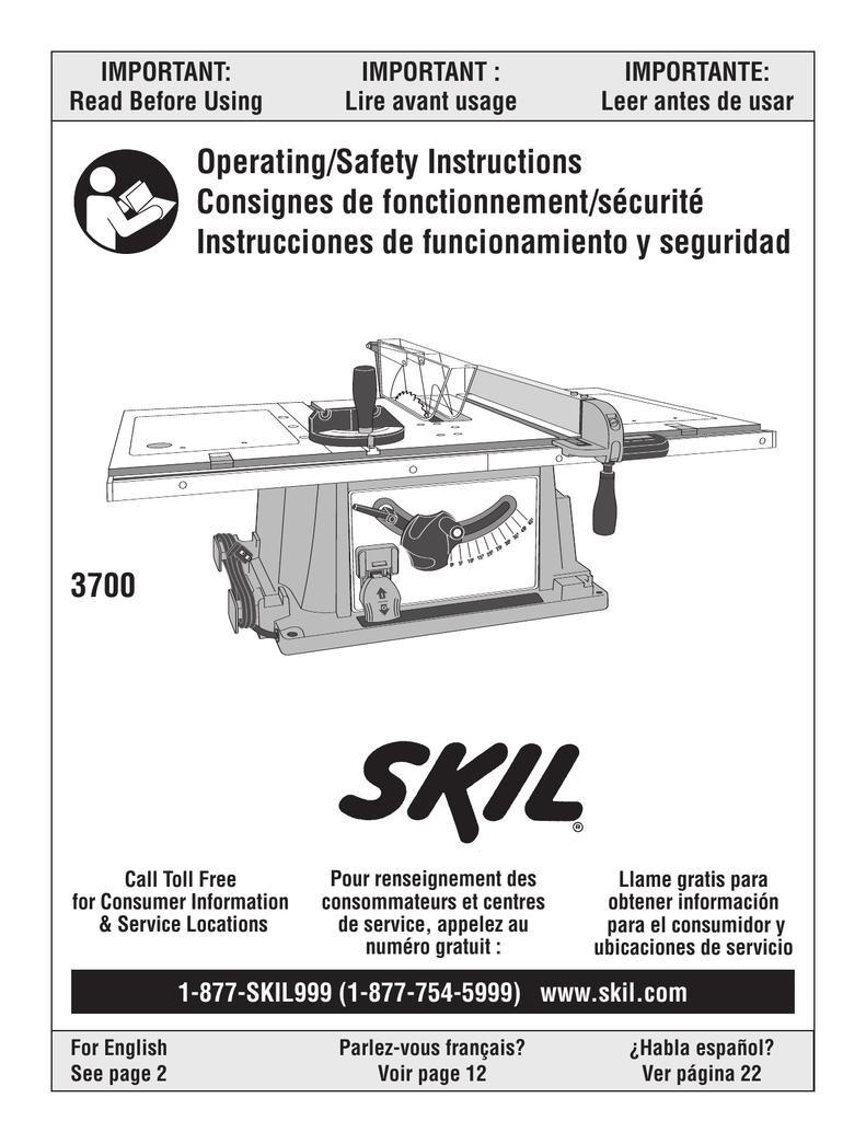 Sensational Skil 3700 Saw User Manual Manualzz Com Ibusinesslaw Wood Chair Design Ideas Ibusinesslaworg