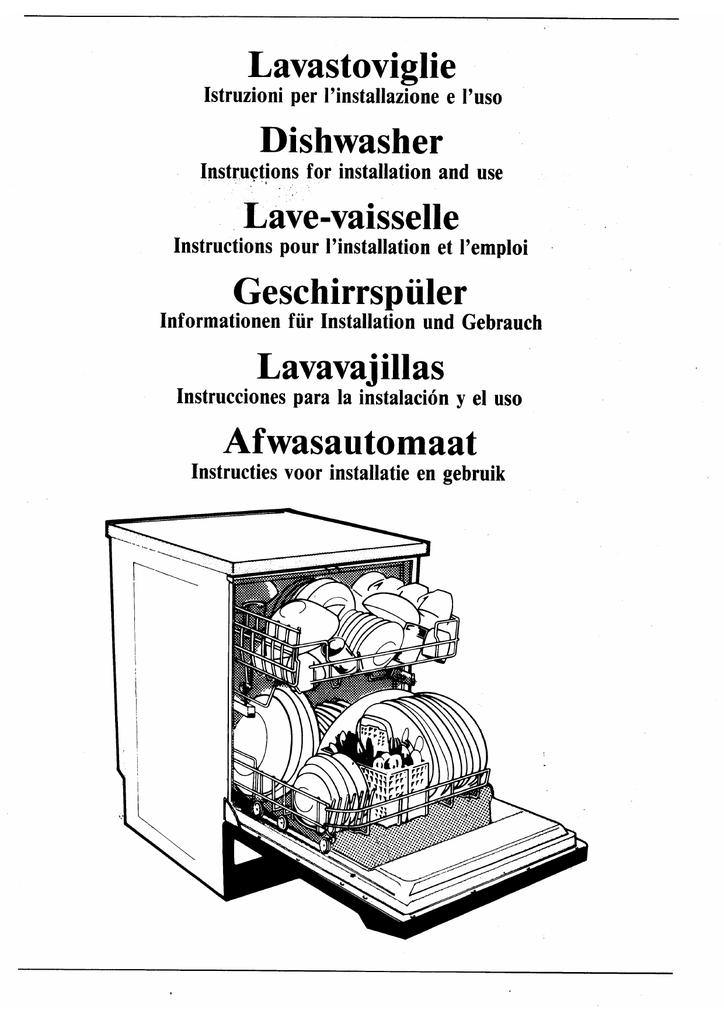 Smeg 85028 Dishwasher User Manual Manualzz Com