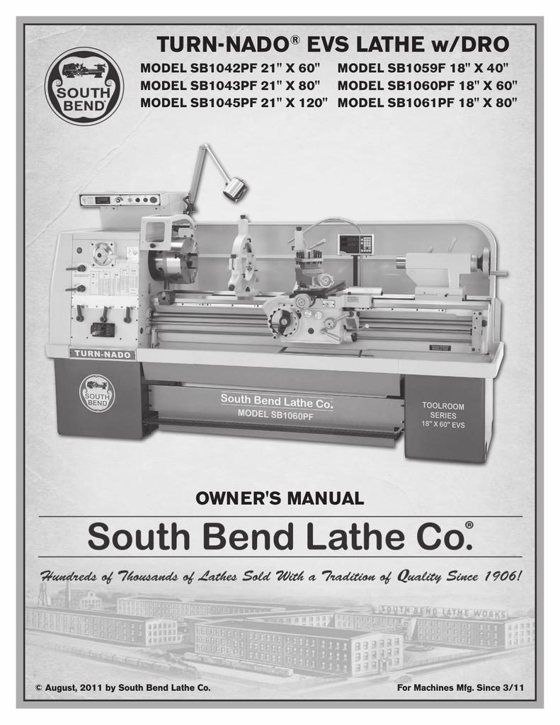 Southbend SB1042PF Lathe User Manual | manualzz com