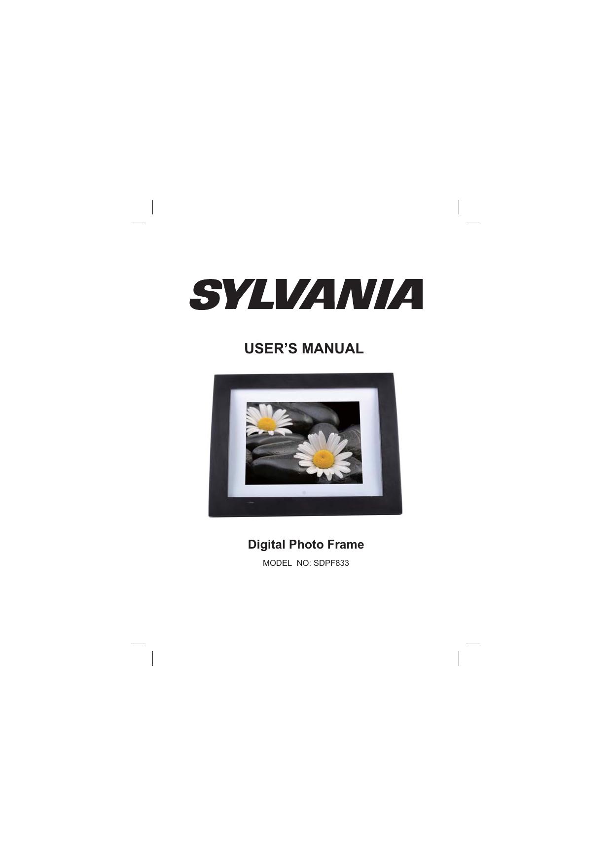 Sylvania SDPF833 Digital Photo Frame User Manual | manualzz.com