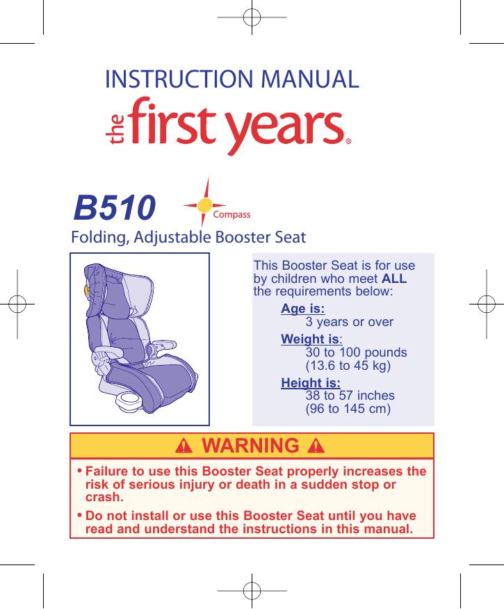 Awesome The First Years B510 Car Seat User Manual Manualzz Com Inzonedesignstudio Interior Chair Design Inzonedesignstudiocom