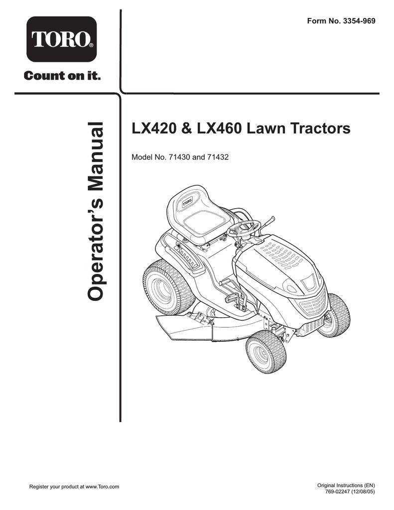 Toro 71430, 71432 Lawn Mower User Manual | manualzz com