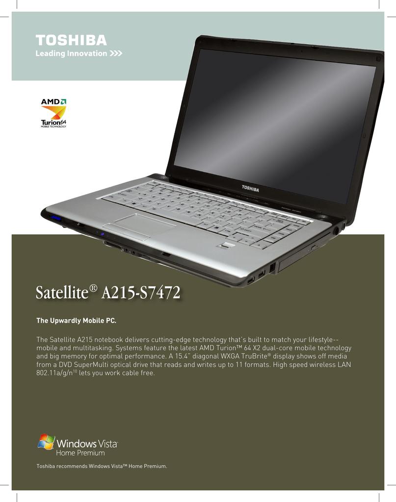 toshiba a215-s7472 laptop user manual