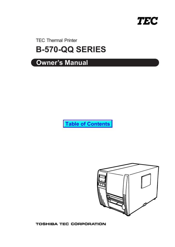 Toshiba B 570 Qq Printer User Manual