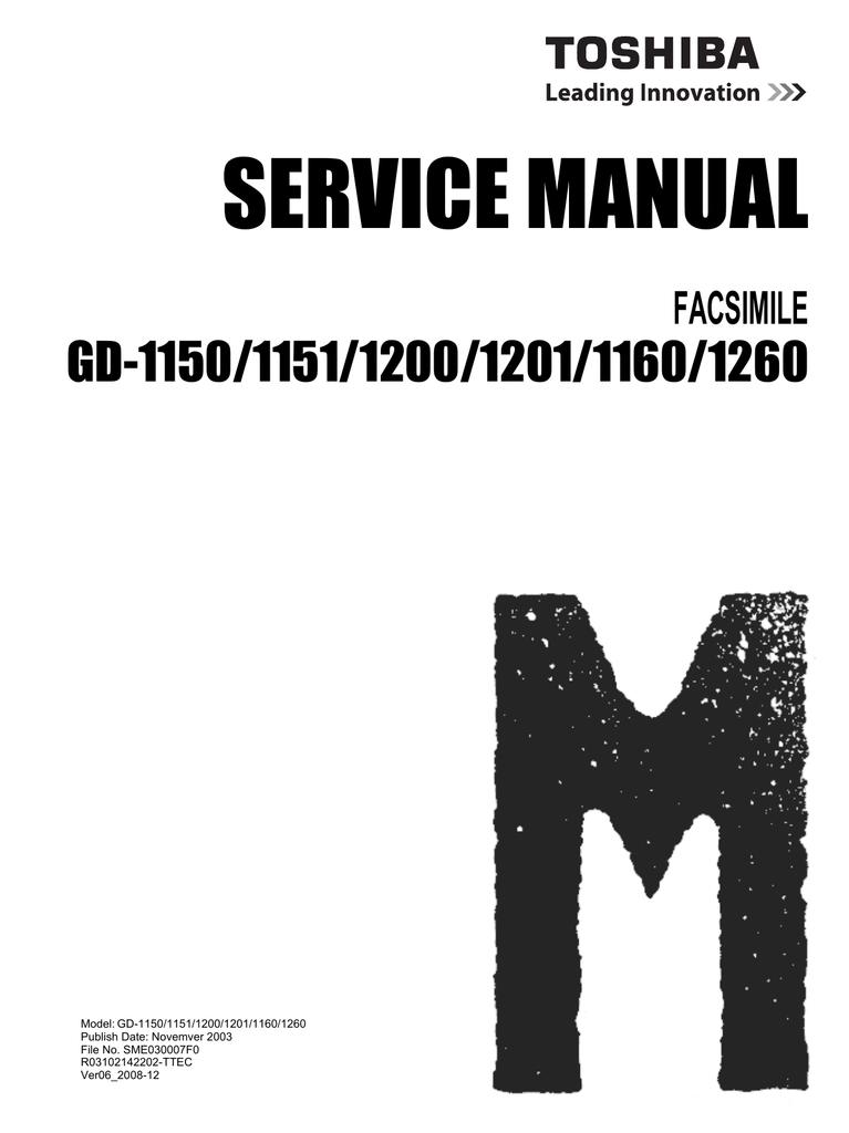 Toshiba GD-1151 Fax Machine User Manual | manualzz com