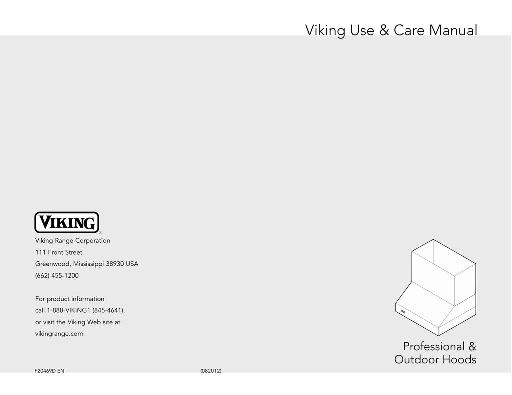 Viking VWH4248SS Ventilation Hood User Manual | manualzz.com on