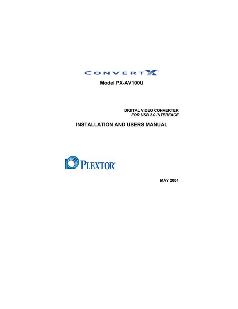 PX-AV100U Digital Video Converter Specs