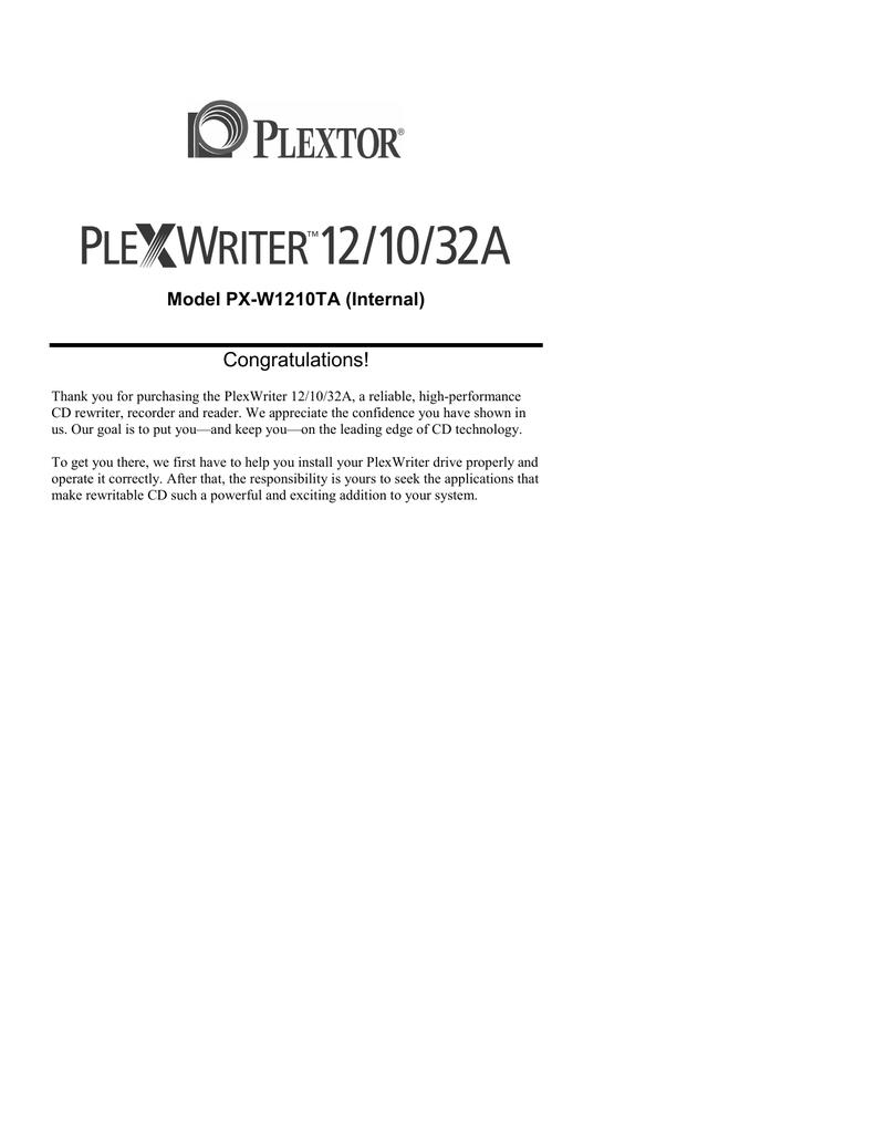 plextor plexwriter 12 10 32a cd manualzz complextor plexwriter 12 10 32a cd