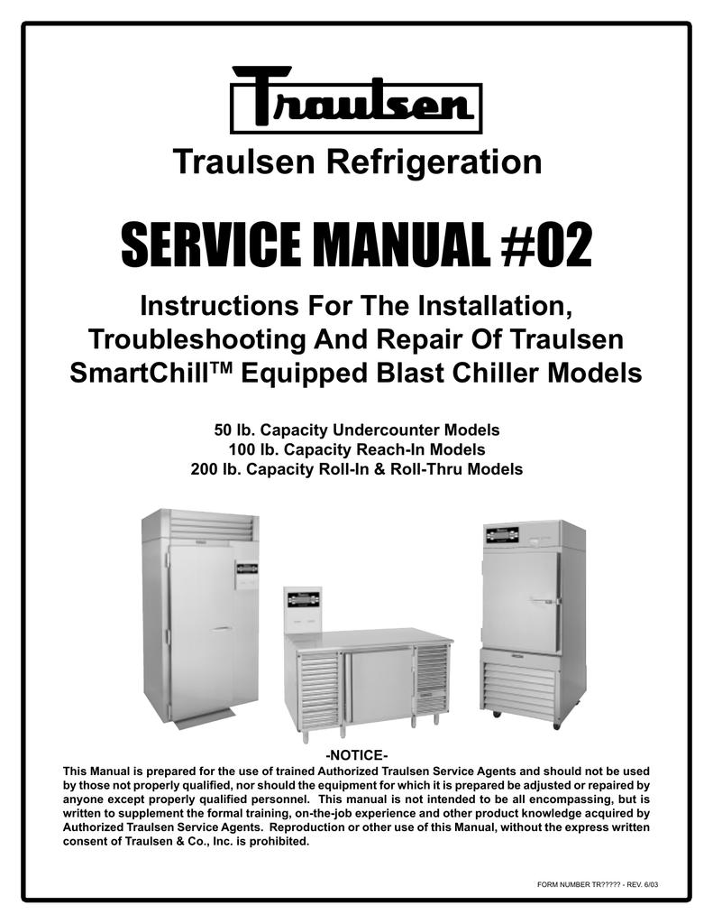 [SCHEMATICS_49CH]  Traulsen RBC100 Blast Chiller Reach In Unit   Manualzz   Blast Chiller Wiring Diagram      manualzz