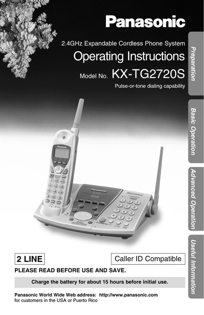 Panasonic Kx Tg2720 Phone Manualzz
