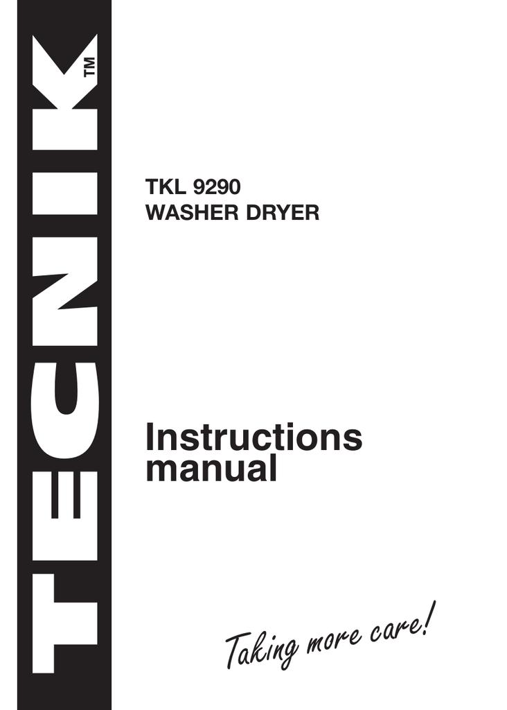 Tecnik TKL9290 Front Load Washer Dryer |