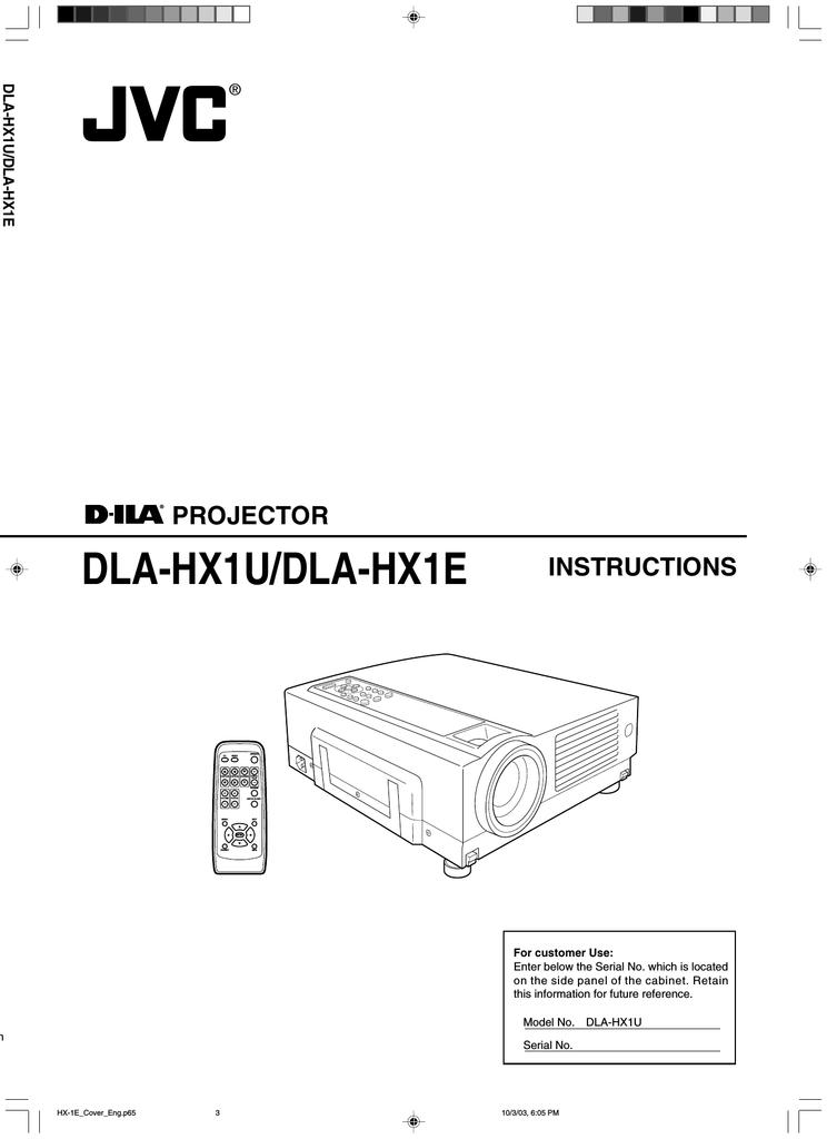 JVC DLA-HX1 Multimedia Projector | manualzz com