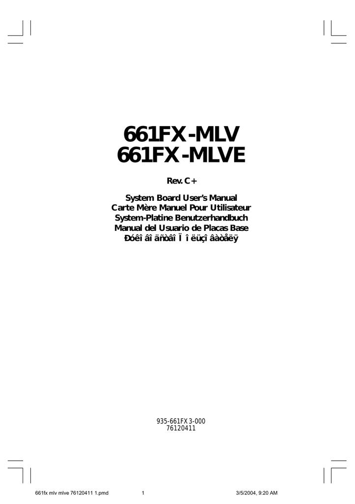 661fx-mlv motherboard manual