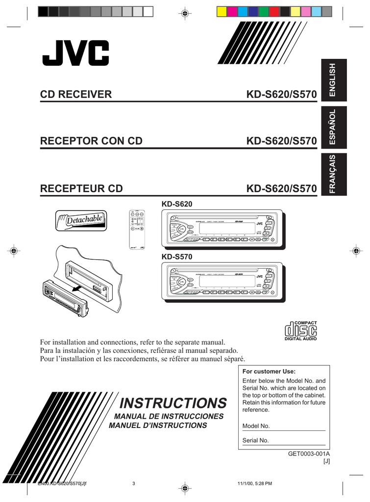 JVC KD-S570 CD Player | manualzz.com on