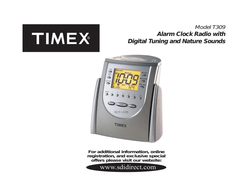 timex t309tt clock radio timex clock radio manual manualzz com rh manualzz com Timex Nature Sounds Clock Manual Timex T309T Alarm Clock Manual