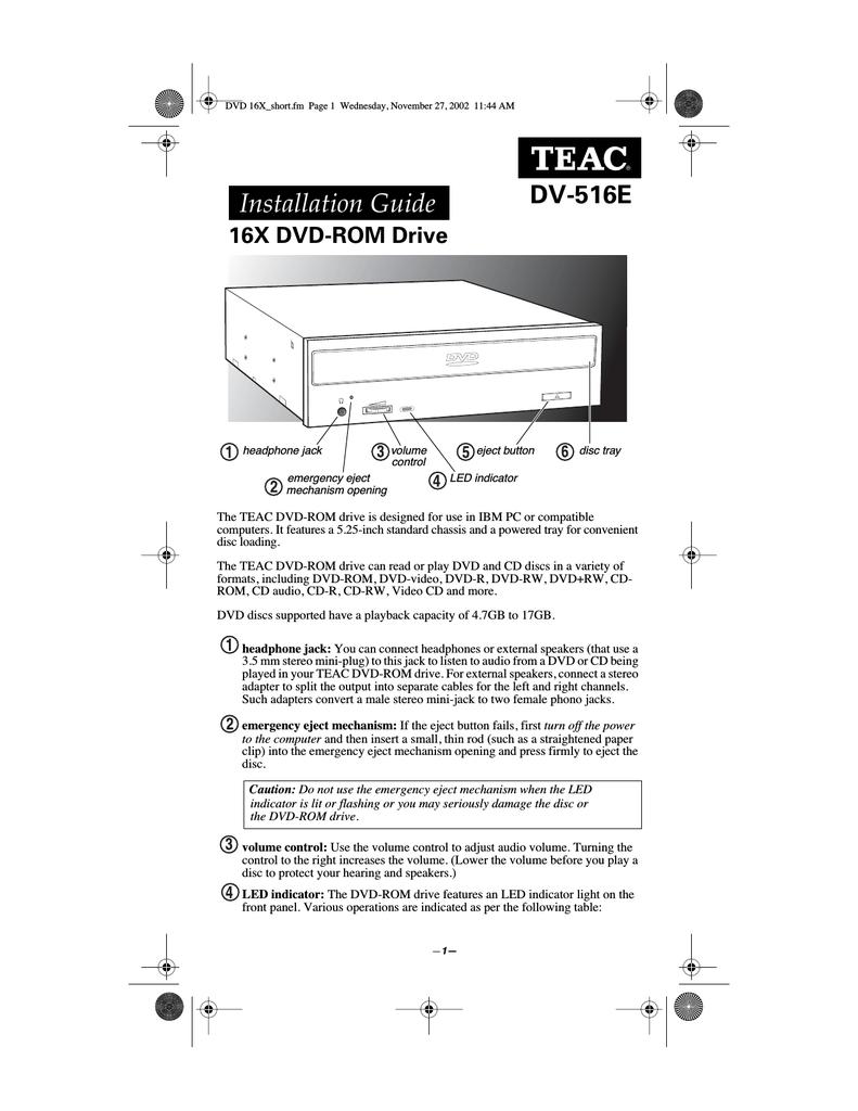 TEAC DV-W50E DRIVERS FOR WINDOWS MAC