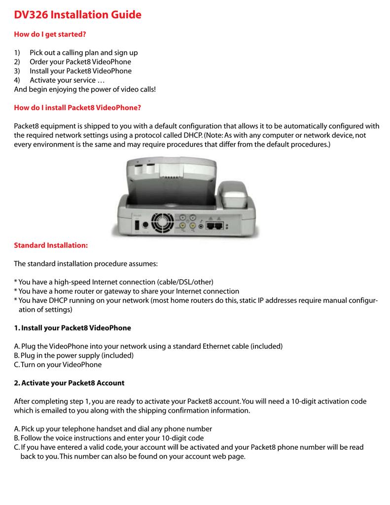8x8 Packet8 DV326 IP Video Phone | manualzz com