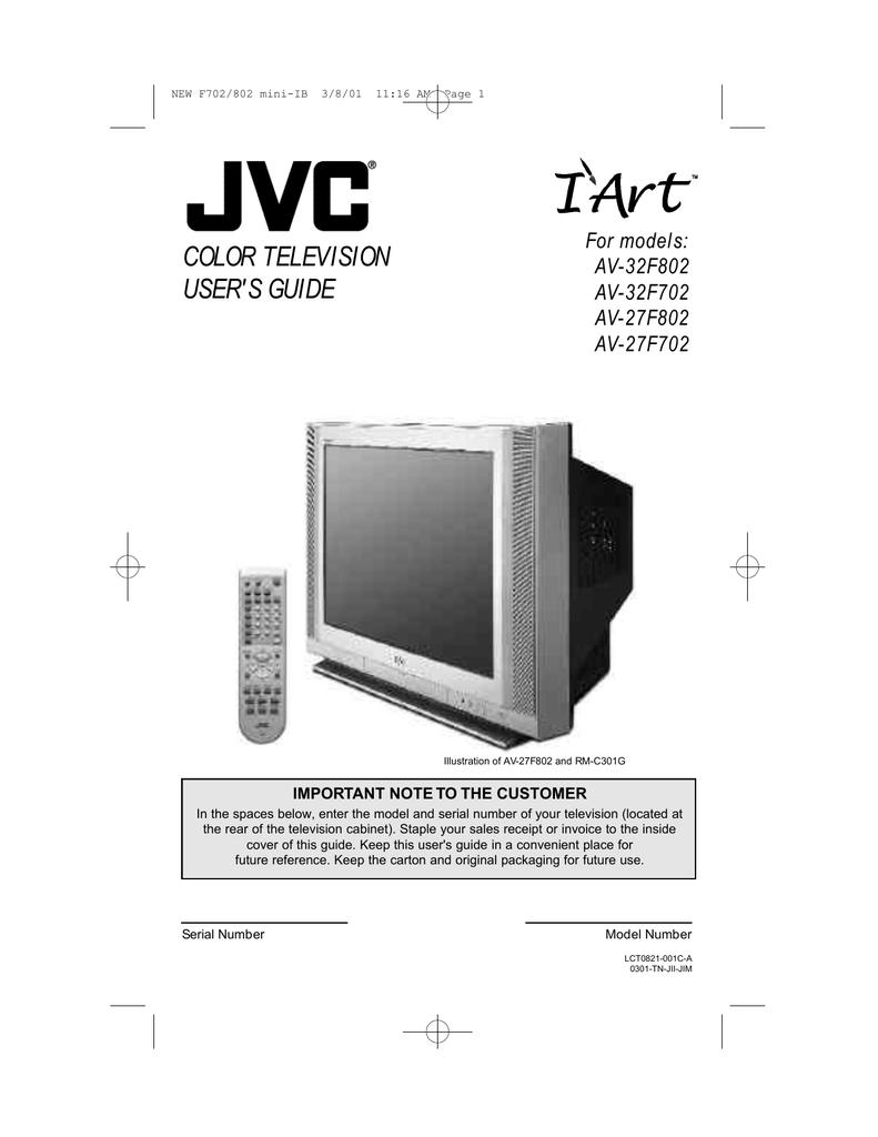 pip and vcr wiring diagram jvc av 32f702 32  tv manualzz  jvc av 32f702 32  tv manualzz
