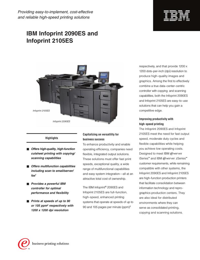 IBM INFOPRINT 2105ES TREIBER WINDOWS 7