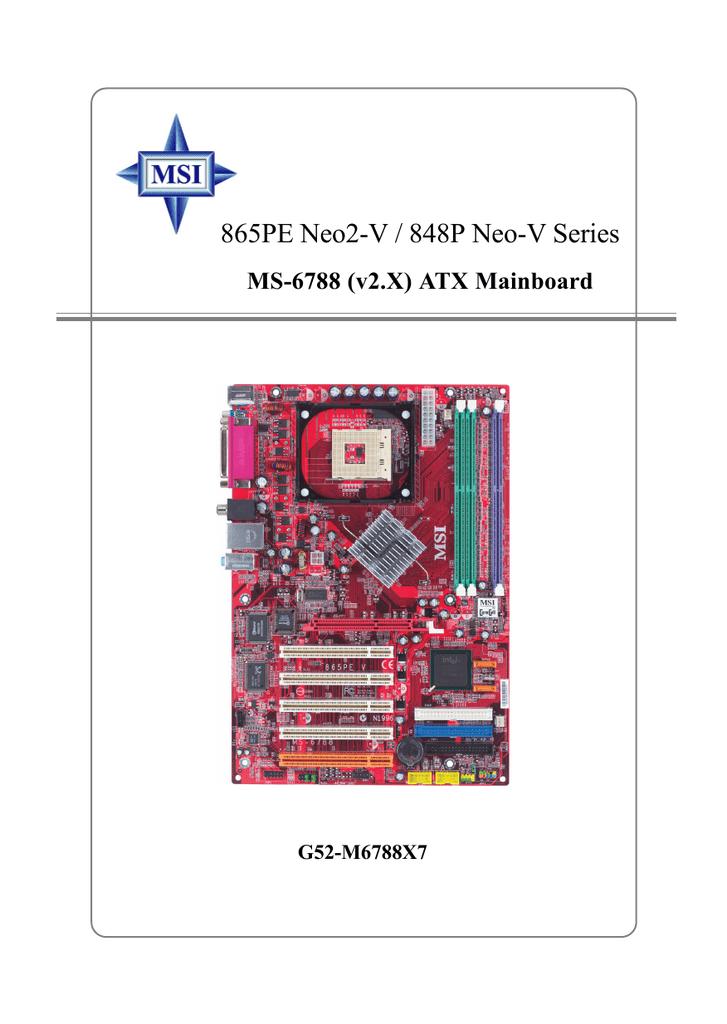 MSI 865PE NEO NEO-L DRIVERS FOR MAC DOWNLOAD
