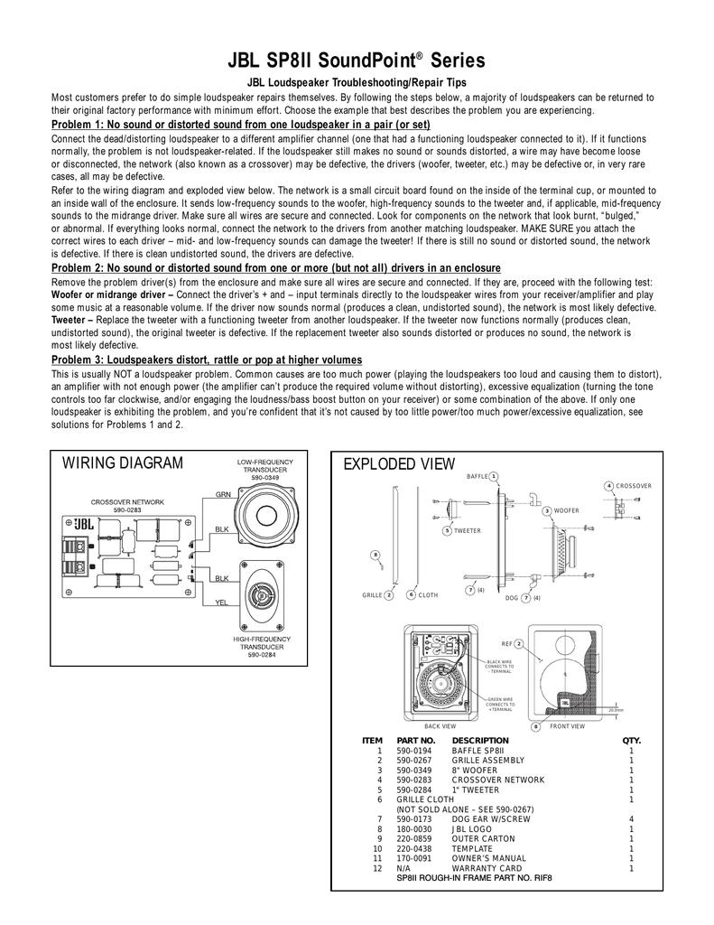 Loudspeaker System Crossover Network Schematic Design