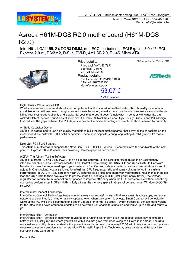 Asrock H61M-DGS R2 0 motherboard (H61M-DGS R2 0) | manualzz com