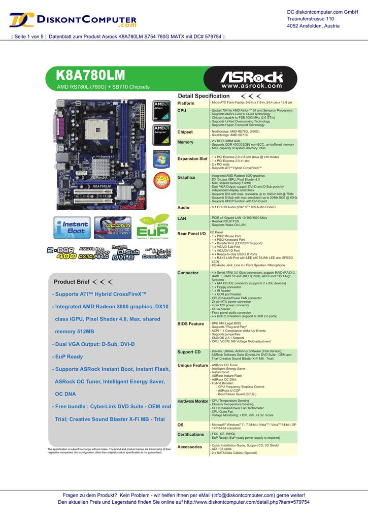 ASROCK K8A780LM REALTEK LAN DRIVERS UPDATE