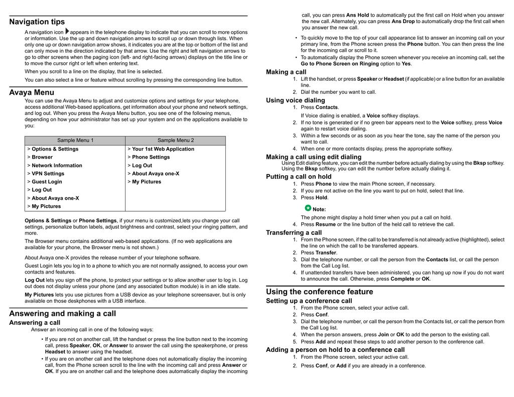 Avaya 9640 / 9640G Quick Start Guide | manualzz com