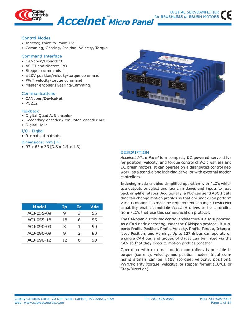 Accelnet Micro Panel | manualzz com
