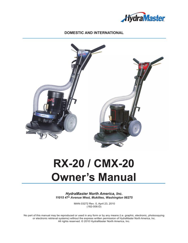 000-064-011 Hydramaster RX-20 rotary power wand casted aluminum shoe