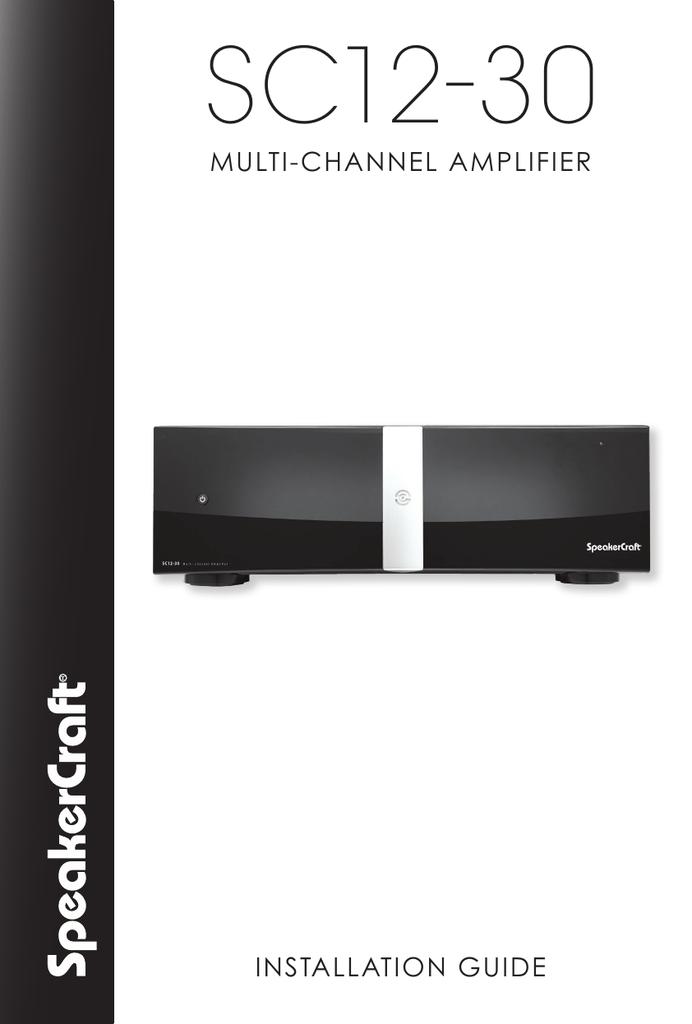 SC12-30 Manual | Manualzz | Speakercraft Wiring Diagram |  | Manualzz
