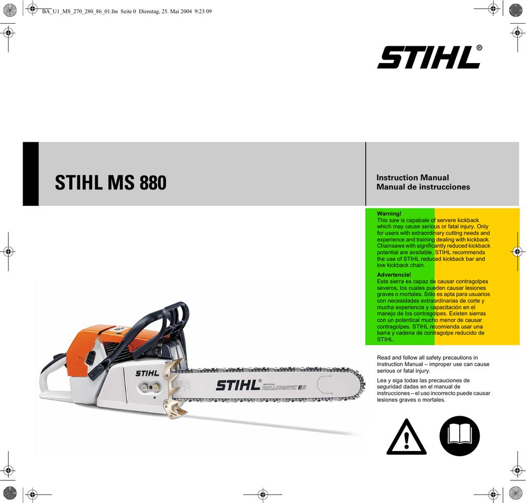 atrás abajo para Stihl 042 048 AV Goma amortiguadores