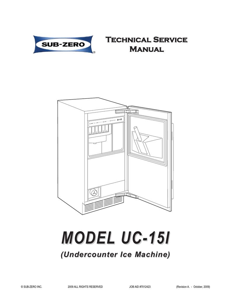 Manitowoc Undercounter Ice Machine Manual Guide