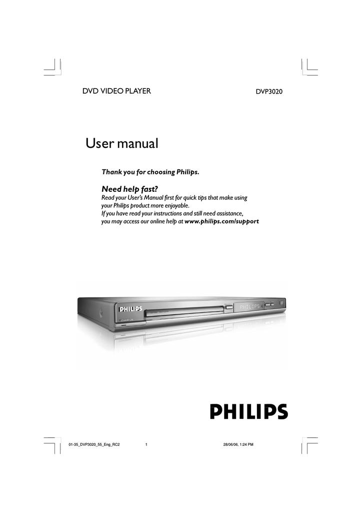 Philips DVP3020K Karaoke DVD Player | manualzz com