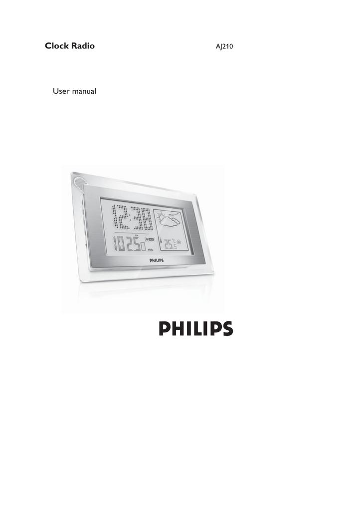 philips weather clock radio manual