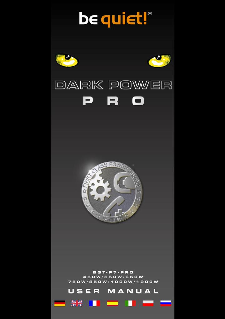 Be Quiet Dark Power Pro 450w Manualzz Com