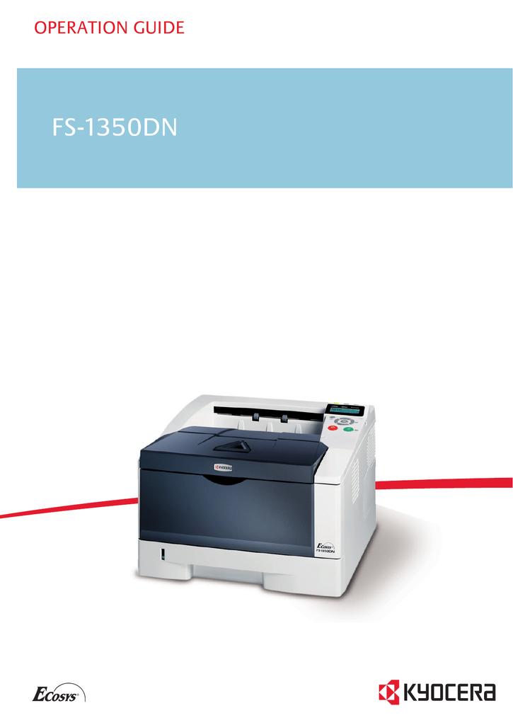 kyocera fs 1350dn laser printer service repair manual parts list