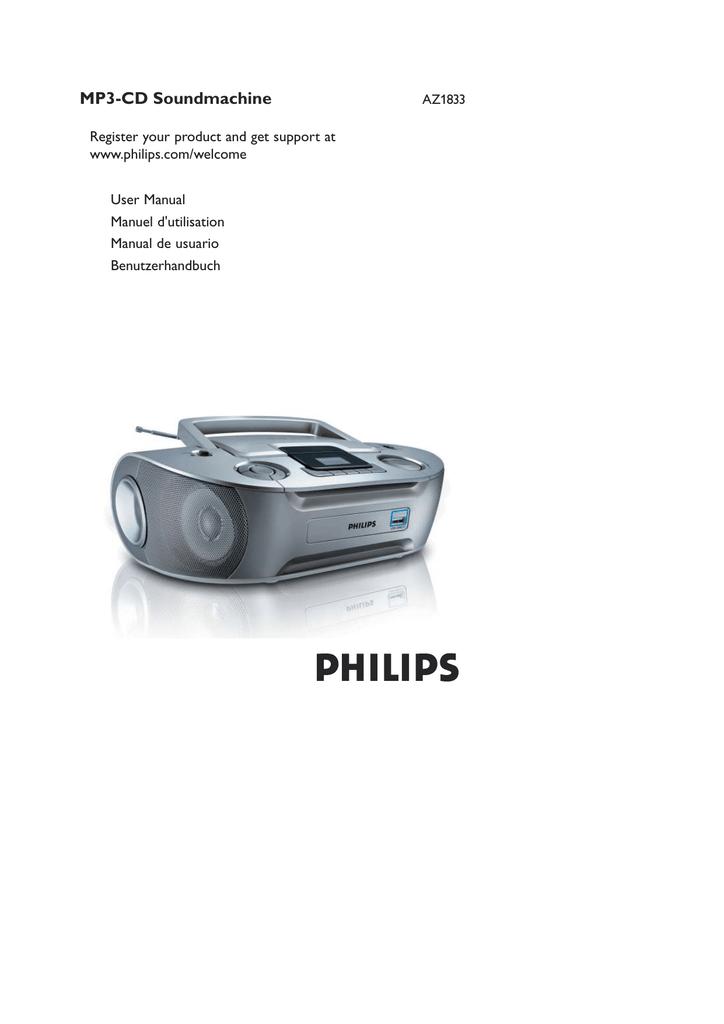 Philips AZ302 User Manual Download