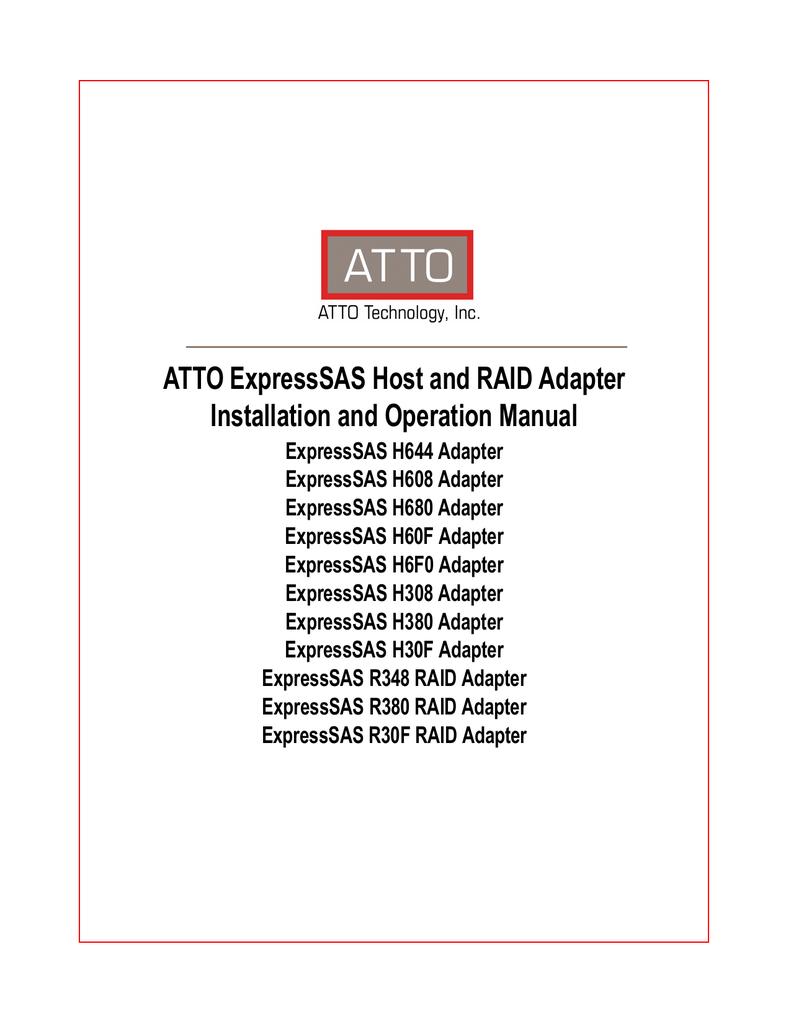 Atto ExpressSAS H380   manualzz com