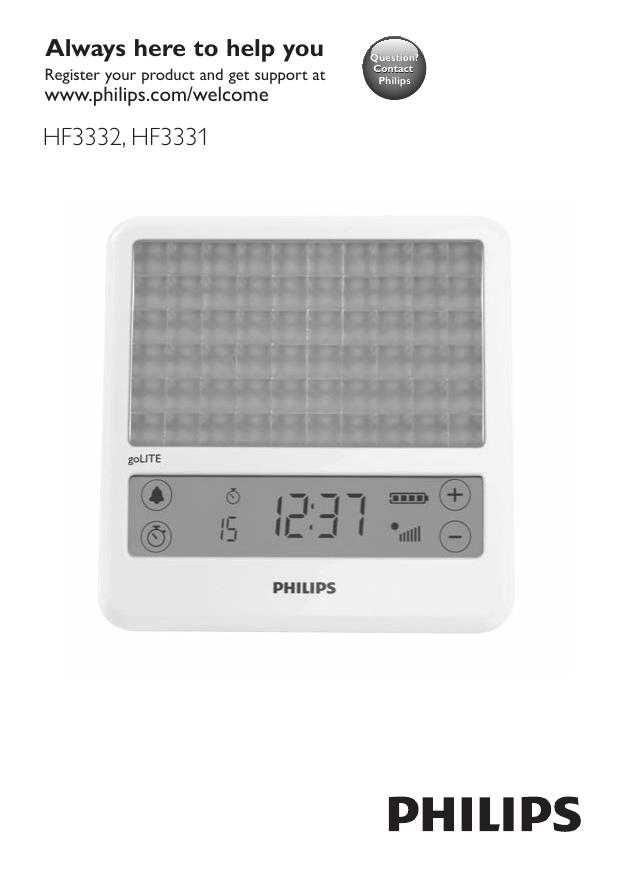 Philips Golite Blu Energy Light Hf3331 Manualzz