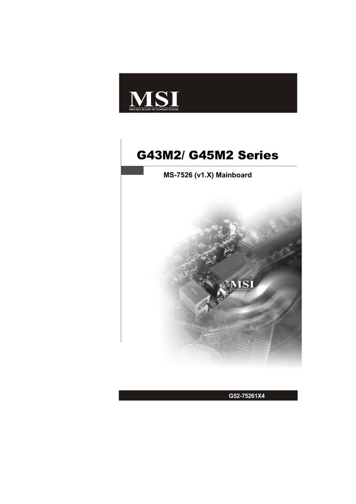 MSI G43M2 Intel Matrix Storage Manager Driver for Windows Download