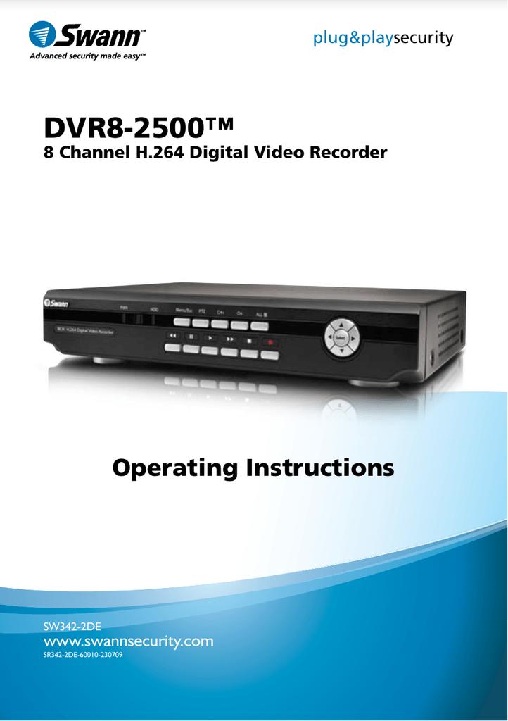 Swann DVR8-2500 | manualzz com