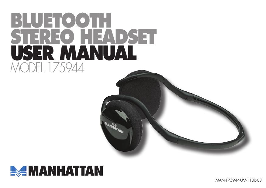 Manhattan Bluetooth Stereo Headset   manualzz com