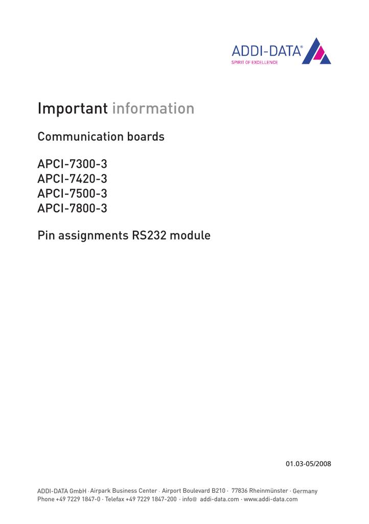 ADDI-DATA APCI-7420 DRIVERS DOWNLOAD